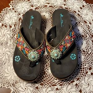 Womens Montana West Size 11 Sandals